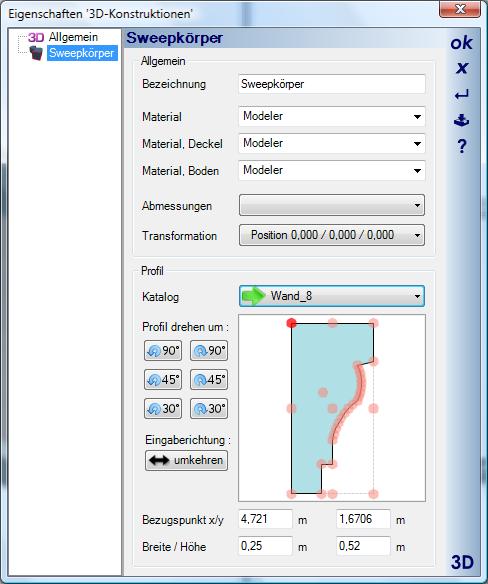 Home Designer image11 594 Polygon, Beispiel Deckenprofil