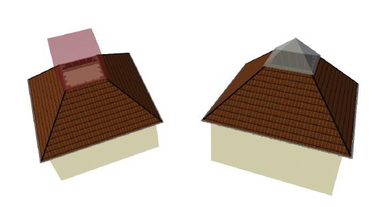 Home Designer image11 612 Beispiel: Abzugskörper in Dächern