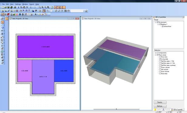 Home Designer image11 2 Quantities, area calculation type 1 / type 2