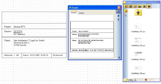 Home Designer image11 314 Title Blocks, Autotext in 2D Symbols