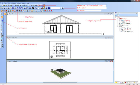 Home Designer image11 4 Layout of the User Interface