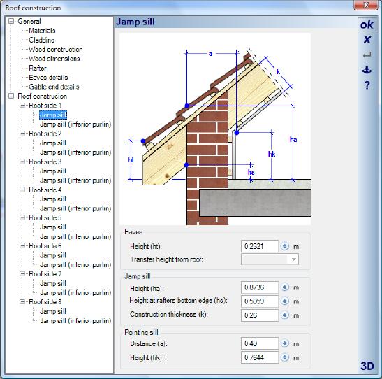 Home Designer image11 428 Roof Side 1/Jamp sill
