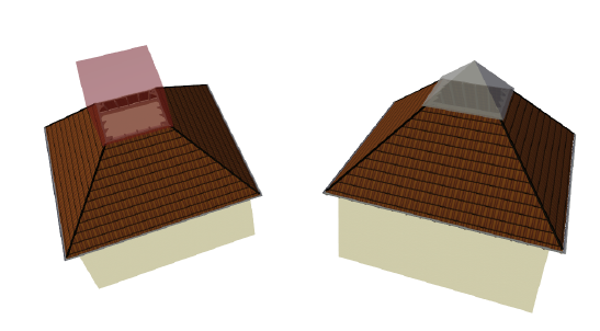 Home Designer image11 585 Example of a Subtraction Solid in Roofs