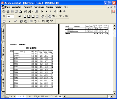 Home Designer image11 602 Outputting reports
