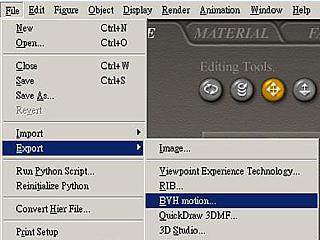 iClone 03exportbvh Using BVH Motion Converter