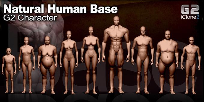 iClone 9 models 9 Types of Natural Human Base
