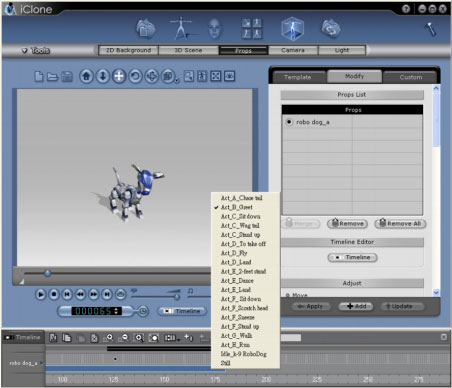 iClone clips sample Live Prop Animation