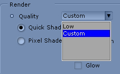 iClone custom low Render Quality and Shader Options