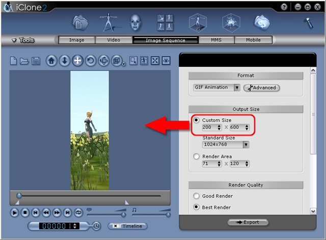 iClone exportchangeview Export Function and Supported File Formats