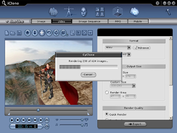 iClone exportvid Exporting an iClone Video