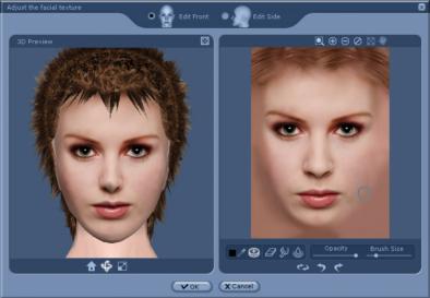 iClone face texture Adjusting the Facial Texture