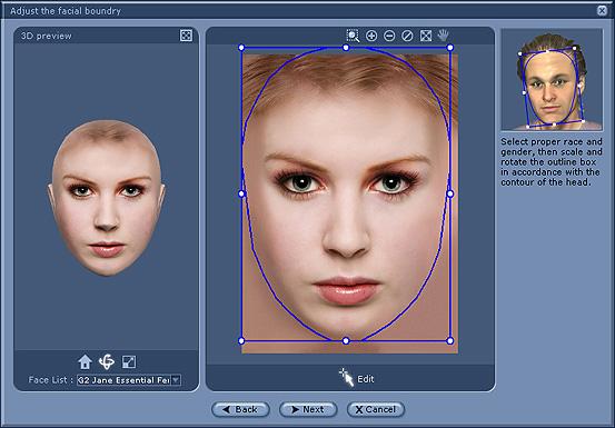 iClone facial%20boundary Adjusting the Facial Boundary