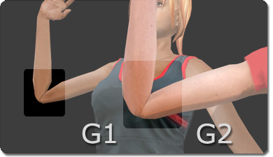 iClone g1 g2 elbows More Realistic Posing