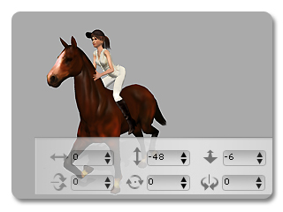 iClone link use cases riding a horse 6 Example   Riding a Horse (Character to Prop)