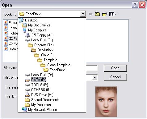 iClone lookin Importing Photo Image
