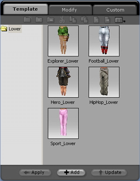 iClone lower%20template Changing Your Characters Lower Body