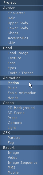 iClone motion%20menu Animating Your Character