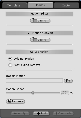 iClone motion%20modify Animating Your Character