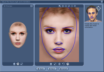 iClone oreientation Adjusting the Angle and Orientation of the Face
