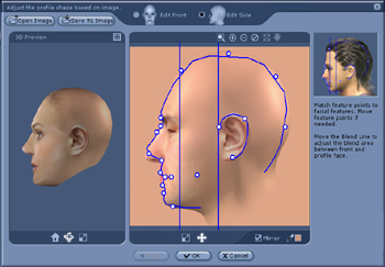 iClone profile Adjusting Feature Points and Contours