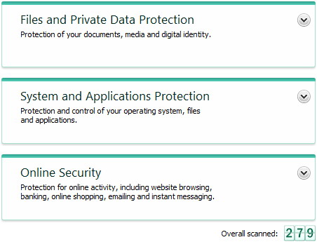 Internet Security kis11 mainwindow protect center Kaspersky Internet Security main window