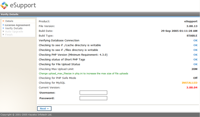 Kayako ss upg009 Running the Upgrade Script
