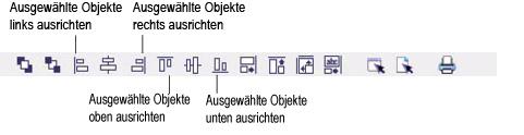 Label Creator lc workingwithobjects.3.8.1 Objekte ausrichten und zentrieren
