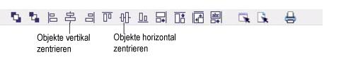 Label Creator lc workingwithobjects.3.8.2 Objekte ausrichten und zentrieren