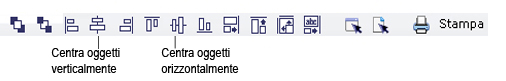 Label Creator lc workingwithobjects.3.8.2 Allineamento e centratura di oggetti