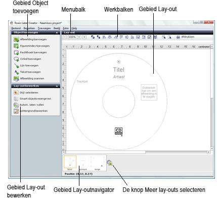 Label Creator lc welcome.1.3.1 Meer informatie over het venster Label Creator
