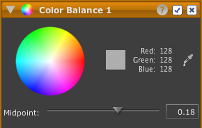 LightZone tool color balance en Color Balance