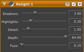 LightZone tool relight en Relight