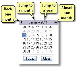 ManagePLUS for QuickBooks dlgcalendarctrl Add New Accounting Period dialog