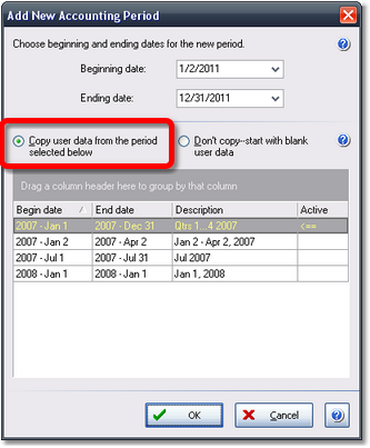ManagePLUS for QuickBooks dlgnewacctgperiod3 20. Reusing your allocation formulas
