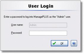 ManagePLUS for QuickBooks dlguserlogin User Login dialog