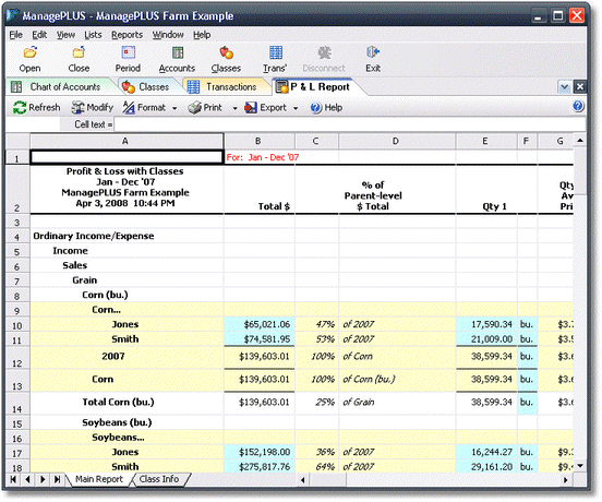 ManagePLUS for QuickBooks htrepexportmpreport2 Exporting reports to Microsoft Excel