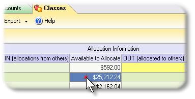 ManagePLUS for QuickBooks qsallocinfocolumns 14. Editing / viewing allocation column details