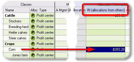 ManagePLUS for QuickBooks qsallocinfromothers3 15. Allocating from an account to classes