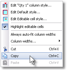 ManagePLUS for QuickBooks qsallocprofanalcornqtypopupmenu 18. Getting a Profit Anaysis report