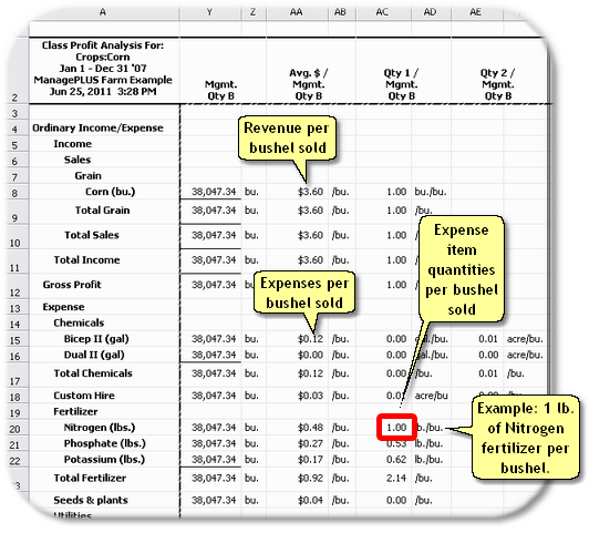 ManagePLUS for QuickBooks qsallocprofanalmgmtqtybpopulated2 18. Getting a Profit Anaysis report