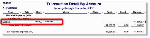 ManagePLUS for QuickBooks qsallocsendtransqbdrilldowndeleted2 19. Sending allocation transactions to QuickBooks