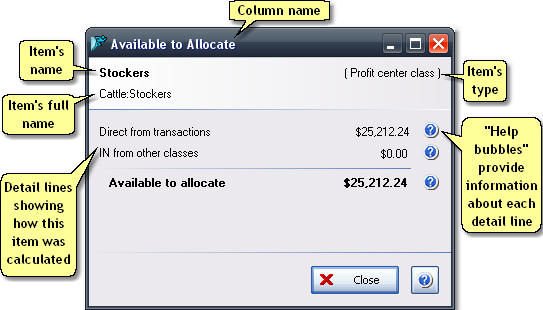 ManagePLUS for QuickBooks qsavailabletoallocate 14. Editing / viewing allocation column details