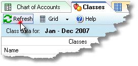 ManagePLUS for QuickBooks qsclassesrefreshbtn 5. Adding management quantities (Classes example)