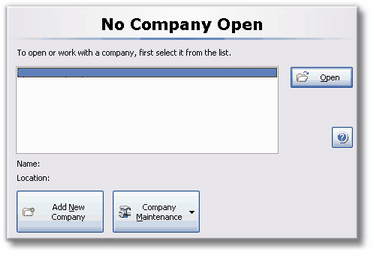 ManagePLUS for QuickBooks qsnocompanyopen3a 1. Adding/opening a new company file