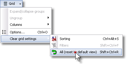 ManagePLUS for QuickBooks qsplaygridreset2 8. Using grid features (Transactions example)