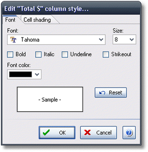 ManagePLUS for QuickBooks qsrepeditstyle2 Customizing report appearance