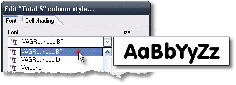 ManagePLUS for QuickBooks qsrepedstylefont4 Customizing report appearance