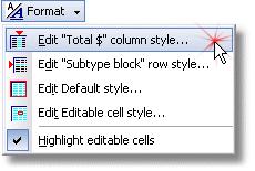 ManagePLUS for QuickBooks qsrepfmtmenu3 Customizing report appearance