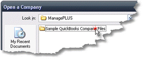 ManagePLUS for QuickBooks qssampmpsampfolder2 About the sample company files
