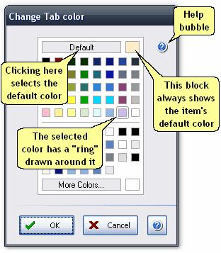 ManagePLUS for QuickBooks ref dlg changecolor Change Color dialog